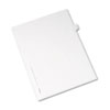 Allstate-Style Legal Exhibit Side Tab Divider, Title: T, Letter, White, 25/pack