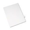 Allstate-Style Legal Exhibit Side Tab Divider, Title: U, Letter, White, 25/pack