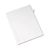 Allstate-Style Legal Exhibit Side Tab Divider, Title: V, Letter, White, 25/pack