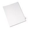 Allstate-Style Legal Exhibit Side Tab Divider, Title: X, Letter, White, 25/pack