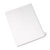 Allstate-Style Legal Exhibit Side Tab Divider, Title: Z, Letter, White, 25/pack