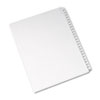 Allstate-Style Legal Exhibit Side Tab Dividers, 25-Tab, 251-275 Letter, White