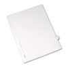 Allstate-Style Legal Exhibit Side Tab Divider, Title: 6, Letter, White, 25/pack