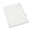 Allstate-Style Legal Exhibit Side Tab Divider, Title: 10, Letter, White, 25/pack