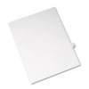Allstate-Style Legal Exhibit Side Tab Divider, Title: 18, Letter, White, 25/pack