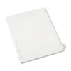 Allstate-Style Legal Exhibit Side Tab Divider, Title: 27, Letter, White, 25/pack