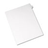 Allstate-Style Legal Exhibit Side Tab Divider, Title: 28, Letter, White, 25/pack