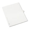 Allstate-Style Legal Exhibit Side Tab Divider, Title: 38, Letter, White, 25/pack