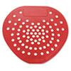 "Health Gards Vinyl Urinal Screen, 7 3/4""w x 6 7/8""h, Red, Cherry, Dozen 03901"