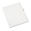 Allstate-Style Legal Exhibit Side Tab Divider, Title: 41, Letter, White, 25/pack