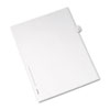 Allstate-Style Legal Exhibit Side Tab Divider, Title: 43, Letter, White, 25/Pack