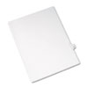 Allstate-Style Legal Exhibit Side Tab Divider, Title: 44, Letter, White, 25/pack
