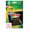 Washable Dry Erase Crayons w/E-Z Erase Cloth, Assorted Neon Colors, 8/Pack 988605