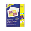 Avery® Embossed Note Cards, Inkjet, 4-1/4 x 5-1/2, Matte Ivory, 60/Pk w/Envelopes AVE8317