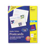 Avery® Postcards for Inkjet Printers, 4-1/4 x 5-1/2, Matte White, 4/Sheet, 200/Box AVE8387