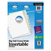 Insertable Big Tab Dividers, 8-Tab, 11 1/8 X 9 1/4