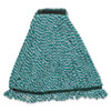 Web Foot String Mop Heads, Microfiber, Green, Medium, 1-In. Green Headband