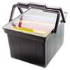 Picture of Companion Portable File Storage Box LegalLetter Plastic Black