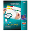 Index Maker Print & Apply Clear Label Dividers w/Color Tabs, 5-Tab, Letter