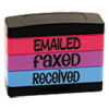 Stack Stamp, Emailed, Faxed, Received, 1 13/16 X 5/8, Assorted Fluorescent Ink