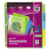 Insertable Big Tab Plastic Dividers, 5-Tab, Letter