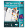 Ready Index Customizable Table Of Contents Plastic Dividers, 15-Tab, Letter