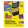 High-Visibility Removable Id Labels, Laser/inkjet, 1 X 2 5/8, Asst. Neon, 360/pk