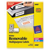 Removable Multi-Use Labels, 1 X 2 5/8, White, 750/pack