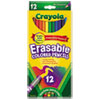Erasable Colored Woodcase Pencils, 3.3 mm, 12 Assorted Colors/Box
