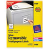 Removable Multi-Use Labels, 3 1/3 X 4, White, 150/pack