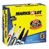 Desk/pen Style Combo Dry Erase Marker, Chisel/bullet Tip, Assorted, 24/pack