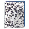 "Durable Mini Fashion Binder, 8 1/2 x 5 1/2, 1"" Capacity, Floral/Navy"