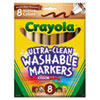 Washable Markers, Conical Point, Multicultural Colors, 8/Pack