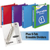 "Durable D-Ring View Binder Plus Pack, 1"" Cap, Assorted Colors, 4/Carton"