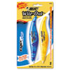 Wite-Out Exact Liner Correction Tape, 1/5 X 236, Blue/orange, 2/pack