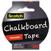 Chalkboard Tape, 1.88 X 5yds, 3 Core, Black