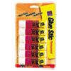 Permanent Glue Stics, White Application, .26 Oz, Stick, 6/pack