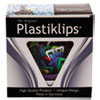 Plastiklips Paper Clips, Large, Assorted Colors, 200/box