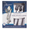 Heavyweight Plastic Cutlery Combo: Fork, Knife, Spoon; Silver, 450/Carton