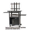 Height-adjustable Tv Cart, Four-shelf, 24w X 18d X 62h, Black (box 2 Of 2)