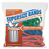 Supersz. Rubber Bands, 12 Red, 14 Green, 17 Blue, 1/4w, 24/pack