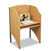 Floor Carrel, Laminate, 32-3/4w x 24-1/2d x 48h, Teak