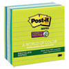 Recycled Notes in Bora Bora Colors, Lined, 4 x 4, 90-Sheet, 6/Pack