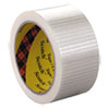 "Bi-Directional Filament Tape, 50mm X 50m, 3"" Core, Clear"