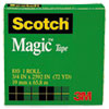Magic Tape Refill, 3/4 X 2592, 3 Core, Clear
