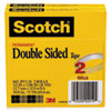 665 Double-Sided Tape, 1/2 X 1296, 3 Core, Transparent, 2/pack