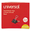 """Small Binder Clips, Steel Wire, 3/8"""" Capacity, 3/4"""" Wide, Black/silver, 36/pack"""
