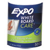 Dry-Erase Board-Cleaning Wet Wipes, 6 x 9, 50/Container