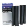 PC202RF Thermal Transfer Refill Roll, Black, 2/PK