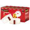 """Transparent Tape, 3/4"""" X 1000"""", 1"""" Core, Clear, 6/pack"""